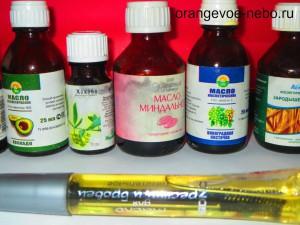 масла и самодельное средство для ресниц