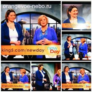 Кадры из выступления Маргариты на американском телевидении